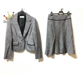 エニシス anySiS スカートスーツ サイズ2 M レディース 美品 黒×白 ラメ   スペシャル特価 20190906