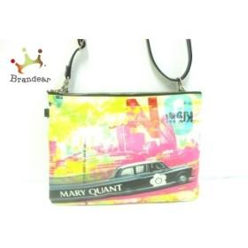 マリークワント MARY QUANT ショルダーバッグ ピンク×黒×マルチ コーティングキャンバス×合皮   スペシャル特価 20190822
