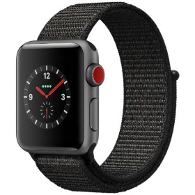 Apple Watch Series 3(GPS + Cellularモデル)- 38mmスペースグレイアルミニウムケースとブラックスポーツループ