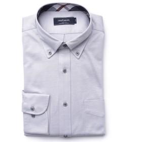 NEWYORKER ハイゲージモクロディ/ジャージー長袖ボタンダウンモデレートシャツ ドレスシャツ,ライトグレー(02)