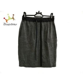 プラステ PLS+T(PLST) スカート サイズ2 M レディース 美品 グレー×黒 ハート スペシャル特価 20190911