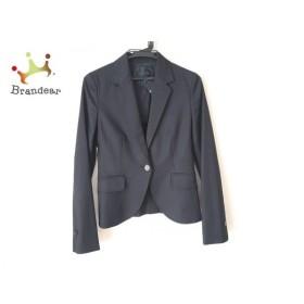 アンタイトル UNTITLED ジャケット サイズ2 M レディース 黒×ライトグレー 肩パッド/ストライプ   スペシャル特価 20190908
