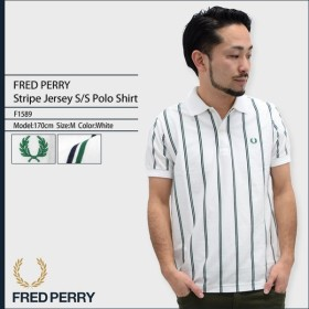 フレッドペリー FRED PERRY ポロシャツ 半袖 メンズ ストライプ ジャージー 日本企画(F1589 Stripe Jersey S/S Polo Shirt JAPAN LIMITED)