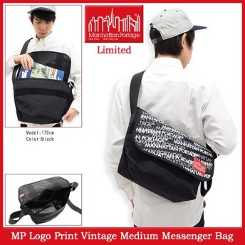 マンハッタンポーテージ Manhattan Portage メッセンジャーバッグ MP ロゴ プリント ビンテージ ミディアム(Messenger Bag MP1606VJRLP)