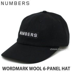 ナンバース エディション ワードマークウール ハット NUMBERS EDITION WORDMARK WOOL 6-PANEL HAT 帽子 キャップ スケートボード Col:Black
