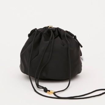 リモンタナイロン/巾着ショルダー「Twill/P effects」 (Black)
