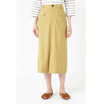 【HUMAN WOMAN:スカート】麻ストレッチタイトスカート