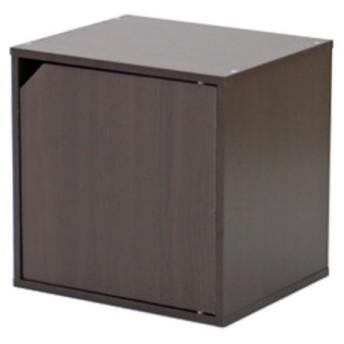 キューブボックス カラーボックス キューブ ラック 棚 扉付 ブラウン おしゃれ パズルラック 収納棚 シェルフ 本棚 戸棚 扉 キャビネット
