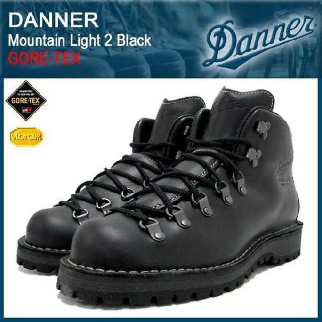 ダナー Danner マウンテンライト 2 ブーツ 黒レザー MADE IN USA ゴアテックス メンズ(30860X Mountain Light 2 Black GORE-TEX)