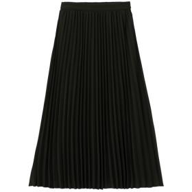 (GU)プリーツミディスカートB BLACK XL