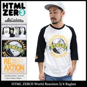 エイチティエムエル ゼロスリー HTML ZERO3 ラグラン 七分袖 メンズ ワールド リアクション(World Reaxtion 3/4 Raglan トップス)
