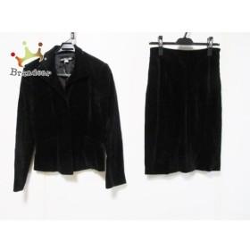 ミッシェルクラン MICHELKLEIN スカートスーツ サイズ36 S レディース 黒 ベロア   スペシャル特価 20190903