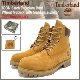 ティンバーランド Timberland ブーツ アイコン 6インチ プレミアム ウィートヌバック ウィズ サンダンス カラー 40周年記念(6941R ICON 6inch メンズ)