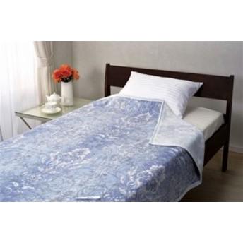 <京都西川>日本製洗える綿毛布ベージュ 140×200cm