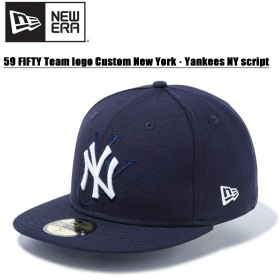 ニュー エラ(NEW ERA) 59FIFTY チームロゴカスタム ニューヨーク・ヤンキース NYスクリプト  Navy  キャップ 帽子 男性用 [BB]