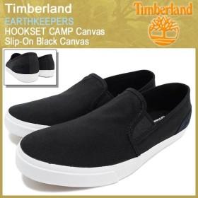 ティンバーランド Timberland アースキーパーズ フックセット キャンプ キャンバス スリップオン ブラック キャンバス(9311B Canvas Slip-On)