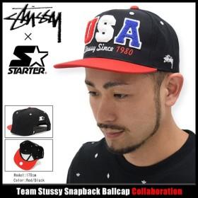 ステューシー STUSSY キャップ 帽子 キャップ スターター Team Stussy Snapback Cap コラボ(STUSSY×STARTER メンズ・男性用 131553)