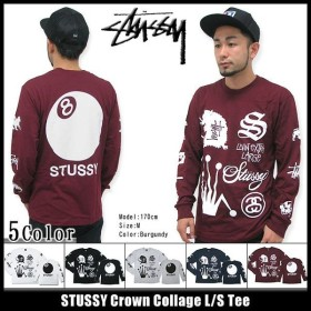 ステューシー STUSSY Crown Collage Tシャツ 長袖(stussy tee ティーシャツ T-SHIRTS トップス ロンt メンズ・男性用 1993342)