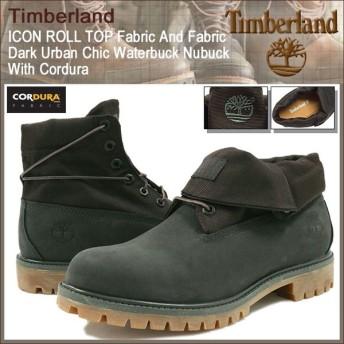 ティンバーランド Timberland ロールトップ ファブリック アンド ファブリック Dark Urban Chic Waterbuck Nubuck With Cordura(A18ZQ)