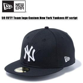 ニュー エラ(NEW ERA) 59FIFTY チームロゴカスタム ニューヨーク・ヤンキース NYスクリプト  Black  キャップ 帽子 男性用 [BB]