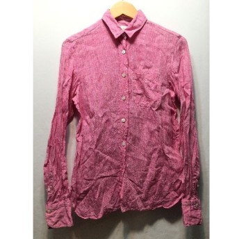 経堂) フィナモレ FINAMORE リネン ブラウス サイズ40 イタリア製 ピンク レディース