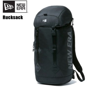 ニューエラ NEW ERA  ラックサック プリントロゴ 28L Black/Black リュック バックパック [BB]