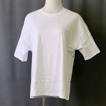 Tシャツ - JESSICA Tシャツ トップス ロゴT 切り替え カットソー レディース 半袖 ゆったり 大きいサイズ 2019 春夏新作体型カバー ロゴ