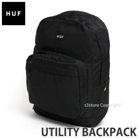 ハフ ユーティリティ バックパック HUF UTILITY BACKPACK ストリート スケート デイバッグ バッグ かばん リュック BAG キースハフナゲル カラー:BLACK