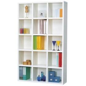 本棚 大容量 シェルフ 幅110cm 高さ180cm ホワイト 書棚 ブックシェルフ A4フォルダ 棚 コミック収納 CD収納 DVD収納 CD DVD 漫画 マンガ まんが