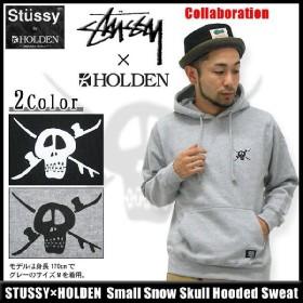 ステューシー STUSSY×HOLDEN Small Snow Skull プルオーバー パーカー コラボ(hooded sweat ホールデン フード メンズ トップス 3922444)