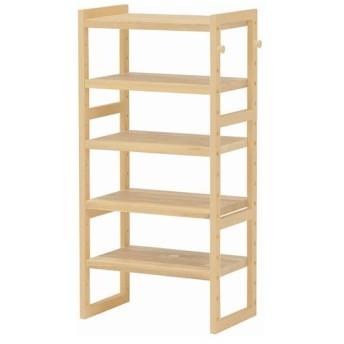 下駄箱 シューズボックス 木製 オープンシューズラック 幅45cm 高さ92cm ナチュラル オープンラック 木製ラック マルチラック シューズラック 棚 本棚