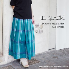 LE GLAZIK JL-5070DTC プリーツマキシスカート〔SK〕