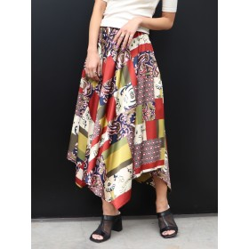 フレアスカート - MURUA スイッチパターンフレアスカート