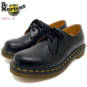 ドクターマーチン ブーツ 3ホール Dr.Martens レディース 女性用 ウィメンズ 1461 3アイ ギブソン シューズ ブラック(GIBSON SHOE R11837002)