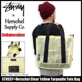ステューシー STUSSY トートバッグ Herschel Clear Yellow Tarpaulin コラボ(STUSSY×Herschel tote bag メンズ レディース 134129)