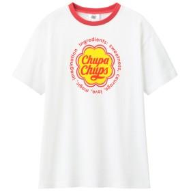 (GU)GIRLSチュニックT半袖Chupa Chups2 WHITE 130