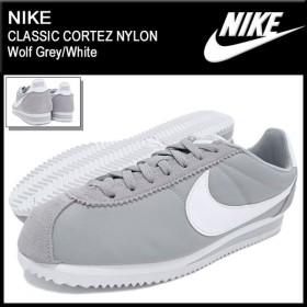 ナイキ NIKE スニーカー メンズ 男性用 クラシック コルテッツ ナイロン Wolf Grey/White(nike CLASSIC CORTEZ NYLON 807472-010)