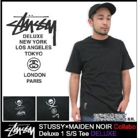 ステューシー STUSSY×MAIDEN NOIR Tシャツ 半袖 Deluxe 1 T-SHIRT コラボ デラックス(stussy ティーシャツ T-SHIRTS トップス メンズ 4014051)