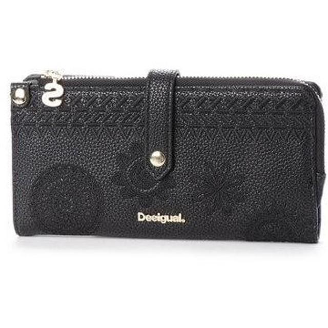 デシグアル Desigual 中財布 (グレー/ブラック)
