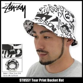ステューシー STUSSY バケット ハット Tear Print Bucket Hat 帽子(stussyhat メンズ・男性用 132768)