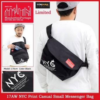 マンハッタンポーテージ Manhattan Portage メッセンジャーバッグ 17AW NYC プリント カジュアル スモール 限定(Messenger MP1605JRNYC17AW)