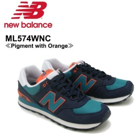 ニュー バランス New Balance  ML574 574 ランニング スニーカー  ML574WNC Pigment with Orange シューズ メンズ 男性用[CC]