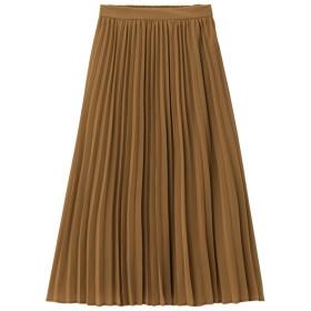 (GU)プリーツミディスカートB BROWN XL