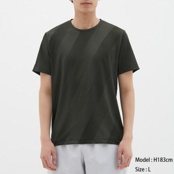 (GU)クルーネックT(半袖)(スラッシュ)GS BLACK S