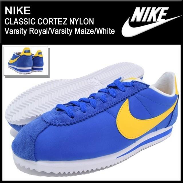 ナイキ NIKE スニーカー メンズ 男性用 クラシック コルテッツ ナイロン Varsity Royal/Varsity Maize/White(CLASSIC CORTEZ 807472-471)