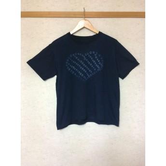 天然藍染女性用Tシャツ半袖L