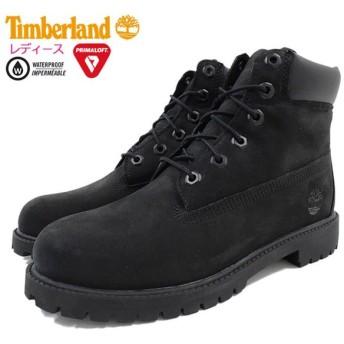 【日本正規品】ティンバーランド ブーツ Timberland レディース対応サイズ ジュニア 6インチ プレミアム ウォータープルーフ Black(12907)