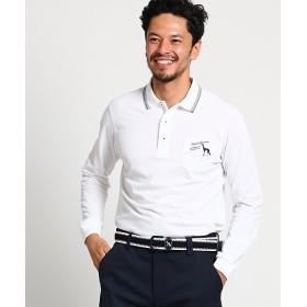 【SALE(伊勢丹)】<アダバット> 胸ポケット長袖ポロシャツ メンズ(2001514999) シロ 【三越・伊勢丹/公式】
