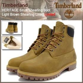 ティンバーランド ブーツ Timberland メンズ ヘリテイジ 6インチ シャーリング ライトブラウン シャーリング ラインド(A1157 6inch Boot)