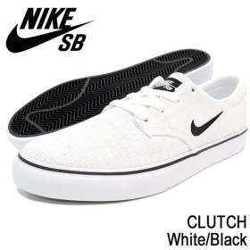 ナイキ NIKE スニーカー メンズ 男性用 SB クラッチ White/Black SB(nike SB CLUTCH SB ホワイト 729825-101)